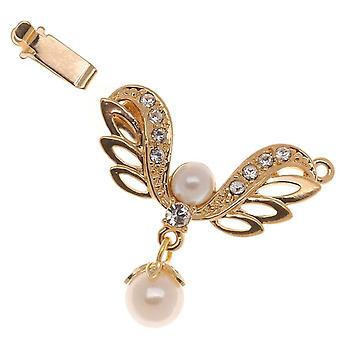 Filigree Box Clasps, 1 Strand Angel's Wings 30x26mm, 1 Piece, 23K Gold Plated
