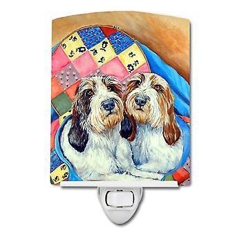 Caroline'S Treasures Petit Basset Griffon Vendeen Ceramic Night Light, 6X4, Multicolor
