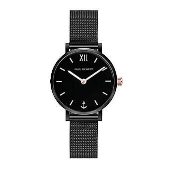 PAUL HEWITT Reloj de acero para mujer Sailor Line Modest Black Sunray - Reloj de pulsera para mujer (negro), Reloj elegante para mujeres con ref. 4251158740157