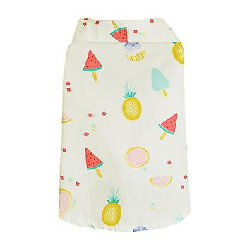 Pet clothes watermelon fruit printed dog shirt suitable for small pets