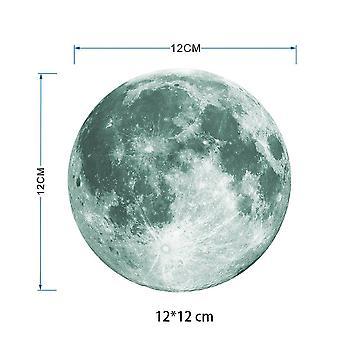 الصفحة الرئيسية مضيئة القمر 3d ملصقا الجدار