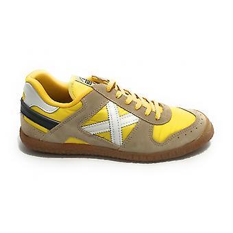 Scarpe Munich Sneaker Goal In Pelle Scamosciata Colore Beige/ Giallo Uomo Us21mu01 1517
