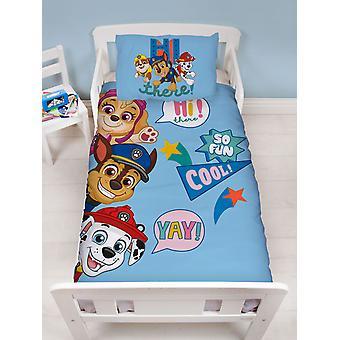 Paw Patrol Cool 4 en 1 Junior Bedding Bundle Set (Edredón, Almohada y