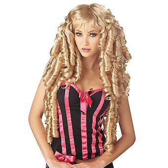 Storybook Goldilocks Deluxe Blonde Ringlet Book Week Fairy Women Costume Wig