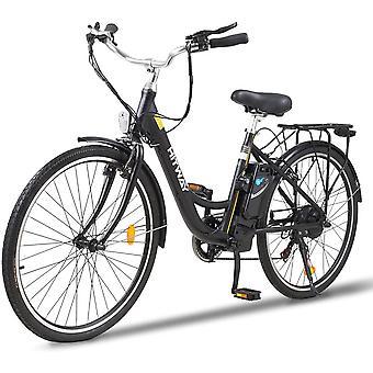 HITWAY 26 pulgadas ciudad E-Bike con motor de 250W, caja de cambios de 7 velocidades, Pedelec E-Bikes con 36V 10.4AH batería de litio extraíble 50km
