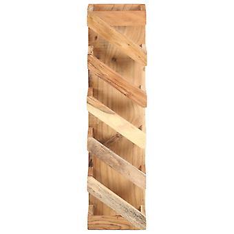 vidaXL wijnplank voor 5 flessen acacia massief hout