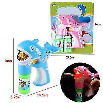 Wal rosa und blau Blase Pistole Kit Wal automatische Blase Maschine Ballon blasen Maschine x3273