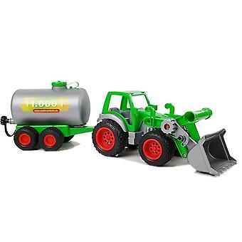 Spielzeugtraktor - mit Geiertanker und Kippschaufel