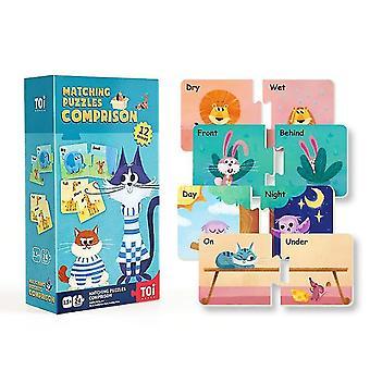 Comprison cognitive matching puzzles children's educational paper puzzles dt5304