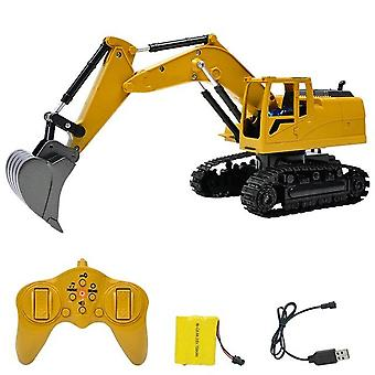 1:24 8 Channel rc truck excavator alloy backhoes bulldozer remote control digger engineering vehicle model electronic kids toy