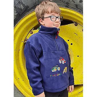 Lasten traktori laivaston fleece villapaita