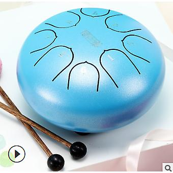 6 Inch steel tongue drum 8 tune hand pan drum tank drum with drumsticks carrying bag percussion instruments