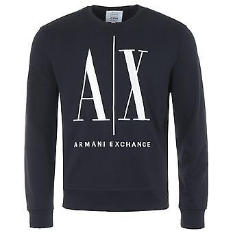 Armani Exchange Icon Crew Neck Sweatshirt - Navy