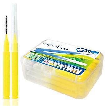 новый 0,7 мм желтый зуб для здоровья толкает тяги escova удаляет пищу и зубной налет sm62285