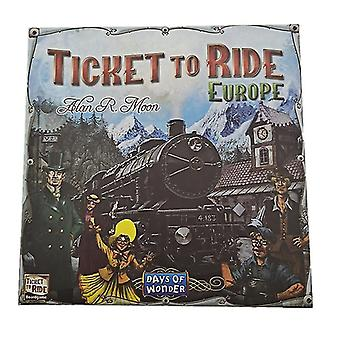 The Adventurers Of Rail Europe, Ticket To Ride, Europe, English Version