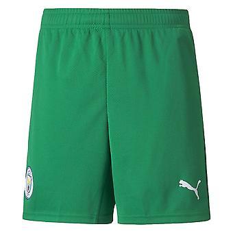 2021-2022 Man City Goalkeeper Shorts (Green) - Kids
