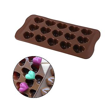 Silicone Ice-cube Chocolate Cake Jelly Tray Pan Heart Maker Mold Mould