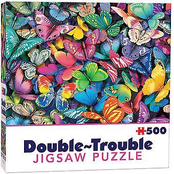 Butterflies Double Trouble Jigsaw Puzzle (500 Pieces)