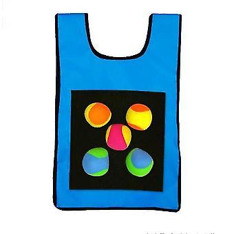 Children Sticky Jersey Vest 5 Pcs Sticky Throwing Balls(Blue)