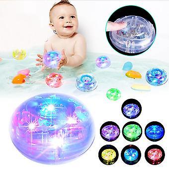 Banheira de banheiro impermeável banheira de banho de bebê hora de mudar crianças festa divertida levou brinquedos de cores rgb luz