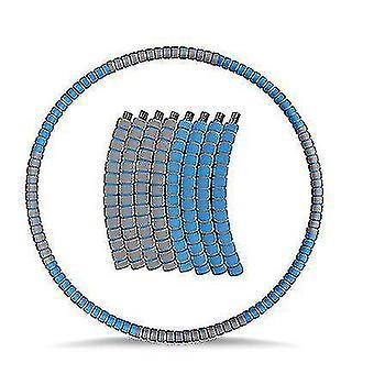 Утяжеленный хула-хуп для взрослых, обруч для похудения с нержавеющей сталью (синий серый)