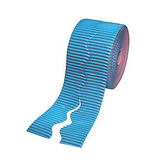 Bright Blue 15.2m Corrugated Card Bordette Border Roll | Classroom Display Border