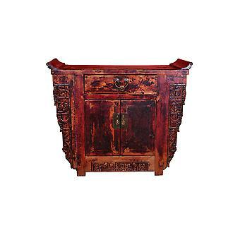 Fine Asianliving Antikke kinesiske kabinet Hånd-udskårne W110xD43xH91cm
