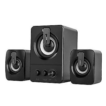 مكبر صوت الكمبيوتر 4D الصوت المحيطي مكبر الصوت الموسيقى مكبر الصوت المصغر| مكبرات صوت الكمبيوتر (أسود)
