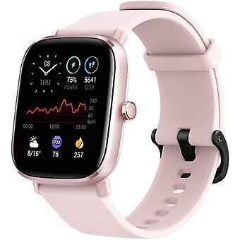 Amazfit GTS 2 Mini Fitness Smart Watch Alexa Ingebouwd, Superlicht Dun Ontwerp, SpO2 Niveaumeting, 14-daagse batterijduur, 70+ sportmodi, hartslag, slaap, stressniveaubewaking (roos)