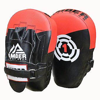 Amber strijd Gear boksen Focus Mitts kickboksen sparren opleiding Punch wanten Muay Thai Pads