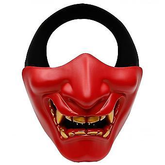 Devil Horror Grimace Adult Half Face Mask(Red)
