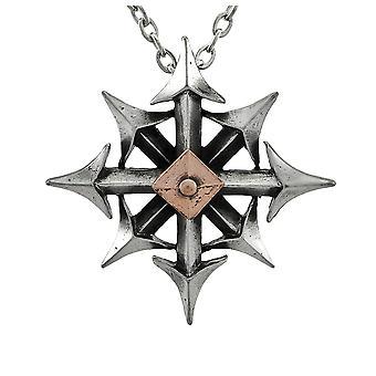 Alchemy Gothic Chaostar hänge med halsband