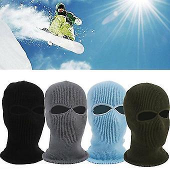 Plná pokrývka tváre Pletená diera Lyžiarska maska Klobúk Shield Beanie Cap Snow Winter Warm