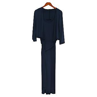 Colleen Lopez Women's Set Reg 2-piece Jumpsuit and Cardigan Blue 773606