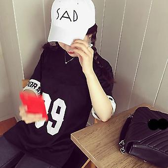 Men Women Peaked Cap Sad Letters Design Hip-hop Hat Letters Embroidered Hat