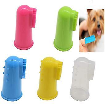 מברשת שיניים של כלב סיליקון, מברשת שיניים 10pcs מברשת שיניים מברשת שיניים אצבע