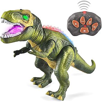 Realistic Light Up Remote Control Dinosaur,walking And Roaring.christams Gift For Kids