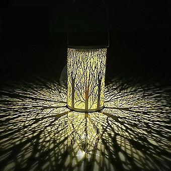 Tragbare Solar Baum Stamm LED Laterne, Garten und Hof Dekoration