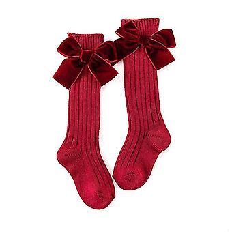 Pentru copii Baby genunchi-șosete de mare, potrivit pentru printesa Stil, heavy-duty tricotate toddler bumbac lung