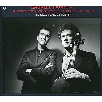 G. Faure - Gabriel Faur: Import USA Oeuvres Pour Violoncelle Et Piano [CD]