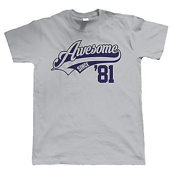 Impresionante desde 1981, Hombres divertido camiseta - regalo para él papá abuelo