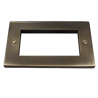 Causeway 2 Gang Quad Modular Plate, Antique Brass