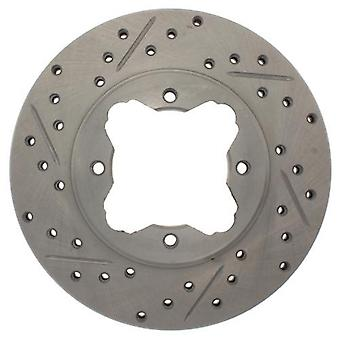 StopTech 227.40022R Select Sport Drilled and Slotted Brake Rotor; Front Right