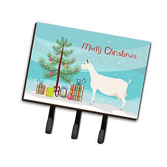 كنوز كارولين BB9256TH68 Saanen الماعز المقود عيد الميلاد أو حائز المفتاح