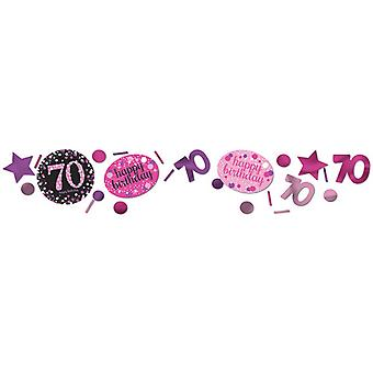 Amscan 1.2oz Pink 70th Birthday Sparkling Confetti
