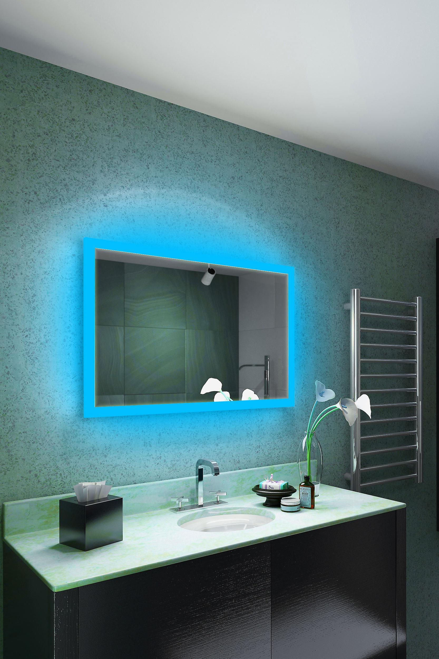 RGB rasoir LED salle de bain miroir avec coussin dévésiculeur & capteur K8401hrgb