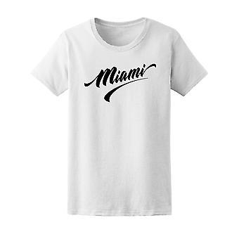 Miami de lettrage main Tee femmes-Image de Shutterstock