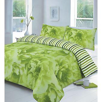 Rose impresso edredon colcha capa floral cama conjunto travesseiro caso todos os tamanhos
