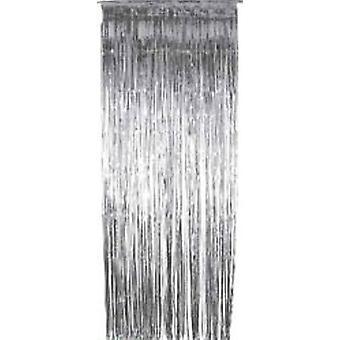 Folie aufgeschlitzt Vorhänge Silber - dünne Slash