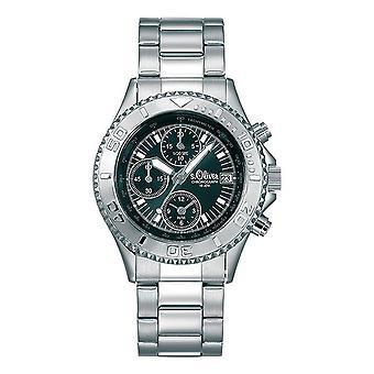 s.Oliver unisexe montre quartz analogique chronographe-bracelet SO-15071-MCR